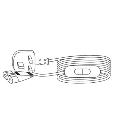 LEDVANCE Polybar Entry Cable 2m UK plug