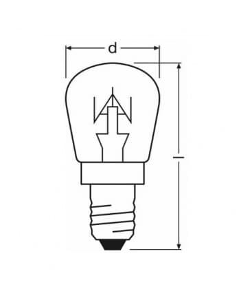 Appliance T25 CL 15W 230V E14 Frigorifero