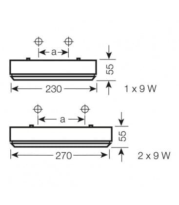 Dulux Rondel 9W 230V Senzor 73025-75