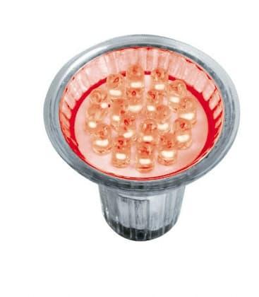 LED Decospot Par16 RD 240V 1W GU10 Red