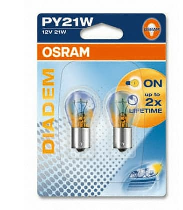 Diadem 7508LDR PR21W 12V Looks white, shine yellow