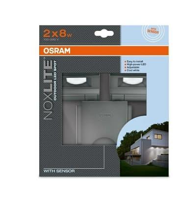 osram noxlite led spot 2x8w sensor gr ip44 41015 4008321981998 en. Black Bedroom Furniture Sets. Home Design Ideas