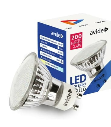LED Spot Glass 3.5W CW GU10