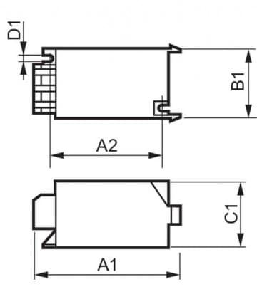 SN D 57 50-70W 220-240V 50-60Hz Amorceur