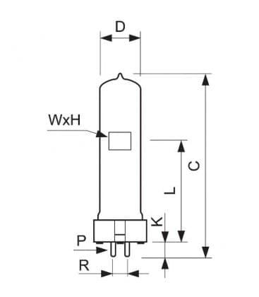6996P FWP 1000W 230V GX9.5