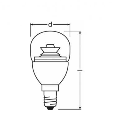 LED superstar Classic P 25 4W-827 220-240V E14 Dimmbar