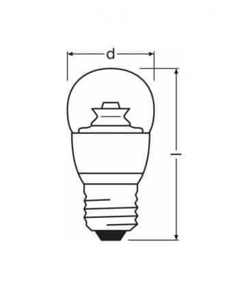 LED Superstar Classic P 40 6W-827 220-240V E27 Gradable