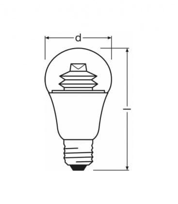 LED Superstar Classic A 60 9W-827 220-240V E27 Dimmerabile