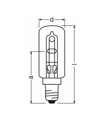 Halolux T eco 230V 40W 64861T E14
