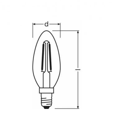 LED Retrofit Classic B 23 2.1W-827 230V FIL E14