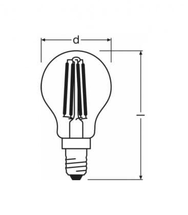 LED Retrofit Classic P 37 4W-827 230V FIL E14