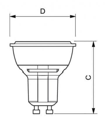 Master LEDspotMV VLE 3.5-35W 827 230V GU10 25D Dimmbar