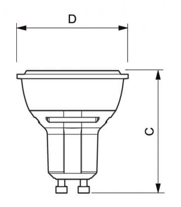 Master LEDspotMV VLE 4.3-50W 827 230V GU10 25D Dimmerabile