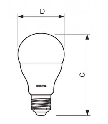 CorePro LEDBulb 10.5-75W 220-240V 865 E27