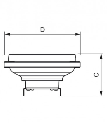 Master LEDspot LV D AR111 20-100W 12V 827 24D Dimmbar