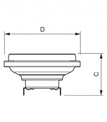 Master LEDspot LV D AR111 20-100W 12V 827 24D Možnost zatemnitve