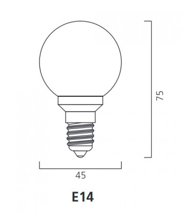 ToLEDo Outdoor Ball 220-240V 0.5W E14 IP44 Blu