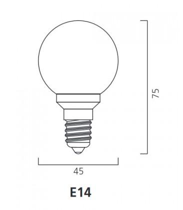 ToLEDo Outdoor Ball 220-240V 0.5W E14 IP44 Rot