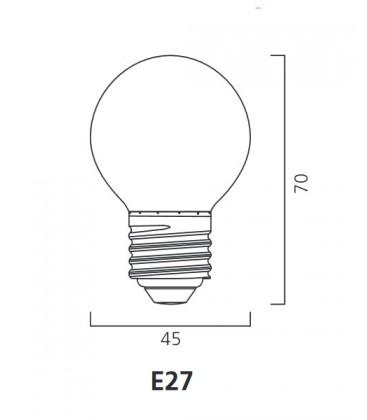 ToLEDo Outdoor Ball 220-240V 0.5W E27 IP44 Zelena