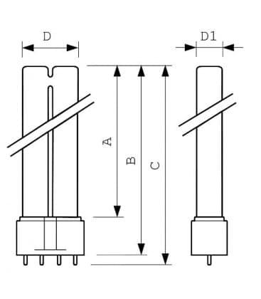 Actinic PL-L 18W-10 uv-a 2G11