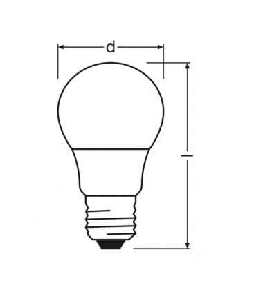 LED Star Classic A 40 5W 220-240V 840 FR E27