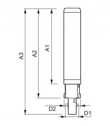 CorePro LED PLC 6.5W 830 2P G24d-2