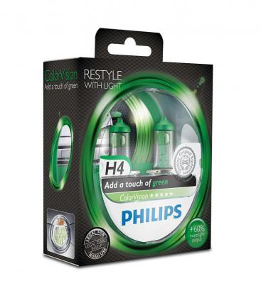 ColorVision H4 12V 60/55W P43t 38 Green Double pack 12342CVPGS2 8727900367874