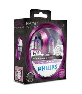 More about ColorVision H4 12V 60/55W P43t 38 Purple Double pack