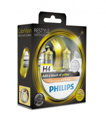 ColorVision H4 12V 60/55W P43t 38 Amarillo Double Pack 12342CVPYS2 8727900367898