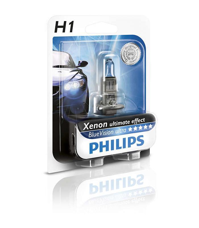 philips h1 12v 55w bluevision ultra 12258bvub1. Black Bedroom Furniture Sets. Home Design Ideas