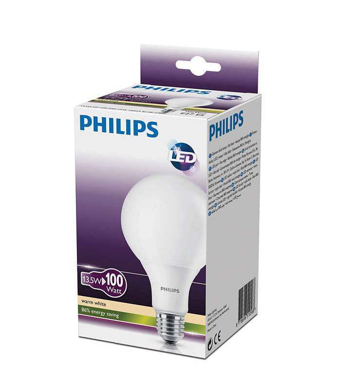 philips led globe 13 5 100w 827 230v fr g93 e27. Black Bedroom Furniture Sets. Home Design Ideas