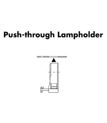 Lampholder, Base G13 Push-through 109330