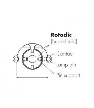 Portalampada G13 Rotoclic incorporato portalampada 59506
