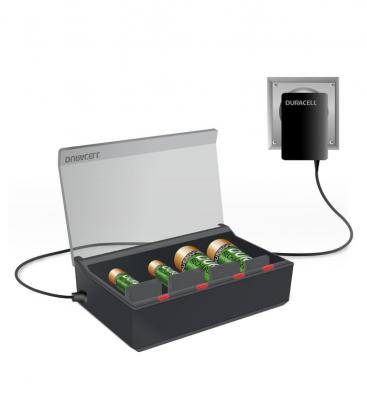 High speed - Multi charger CEF22 for AA, AAA, C, D and 9V batteries