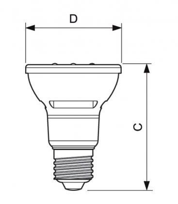 MASTER LEDspot D 5.5-50W 827 PAR20 E27 40D Možnost zatemnitve