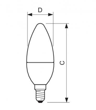 Master LEDcandle DT 6-40W 220-240V WW B38 CL E14 Možnost zatemnitve