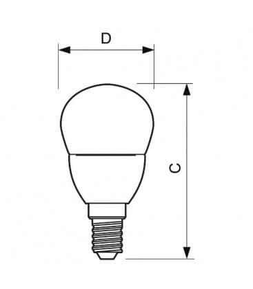 Corepro lustre ND  5.5-40W 220-240V 827 P45 CL E14