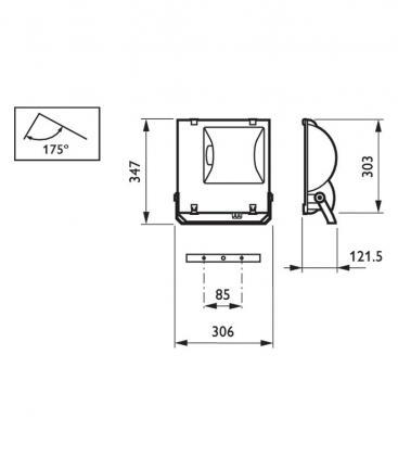 RVP151 MHN-td 70W IC A Tempo IP65 Asimetrico (Sin bombilla)