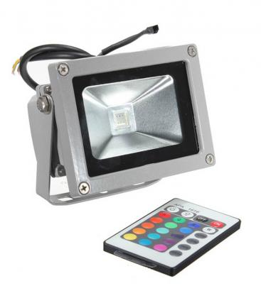 LED reflector 10W (100W) IP65 RGB with remote controller