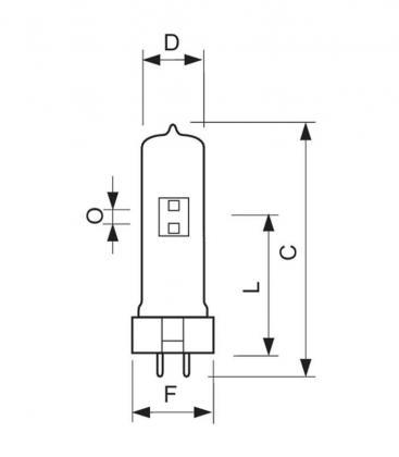MSR 575W/2 10H GX9.5
