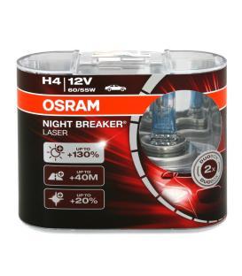 Plus de H4 12V 55W 64193 NBL Night Breaker Laser Double paquet