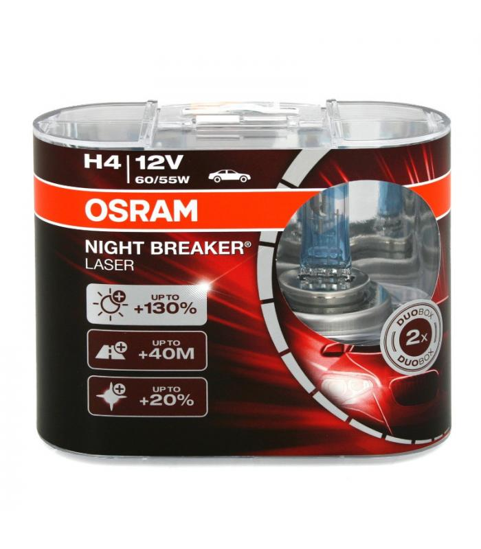 osram h4 12v 55w 64193 nbl night breaker laser double pack. Black Bedroom Furniture Sets. Home Design Ideas