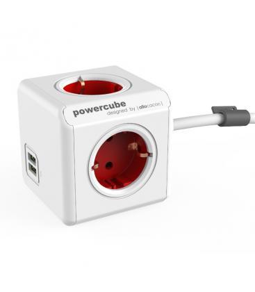 PowerCube Extended USB Type F Rouge 1.5 m PC:1402RD/DEEUPC 8718444087038