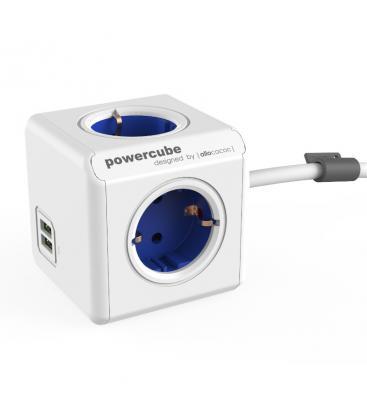 PowerCube Extended USB Tipo F Azul Cobalto 1.5 m PC:1402BL/DEEUPC 8718444086994