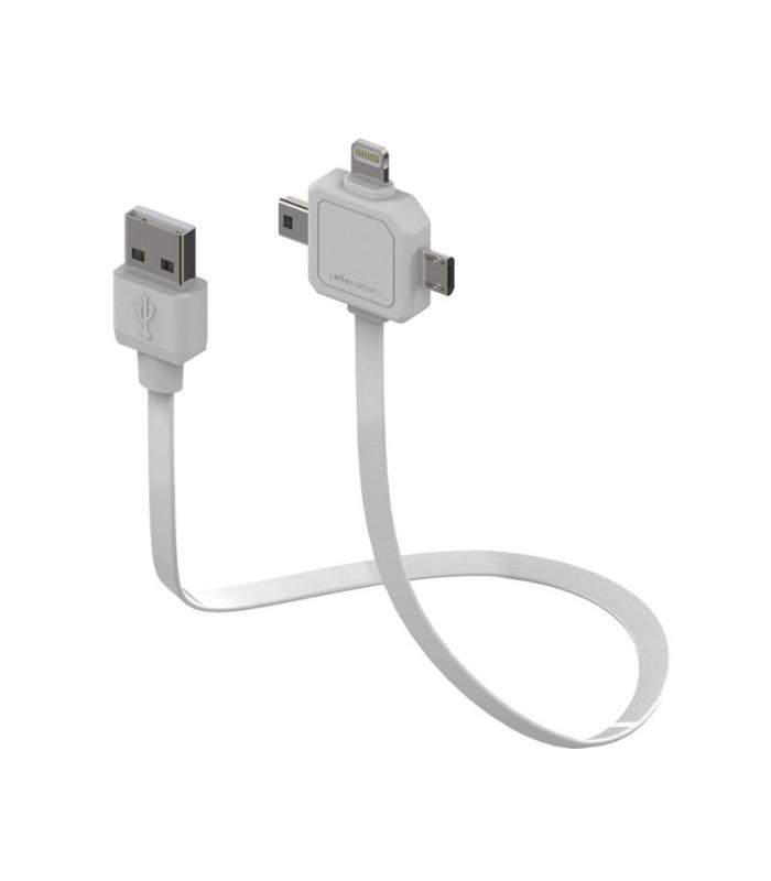 Allocacoc Power Usbcable 3 In 1 Mini Usb Micro Apple Lighting