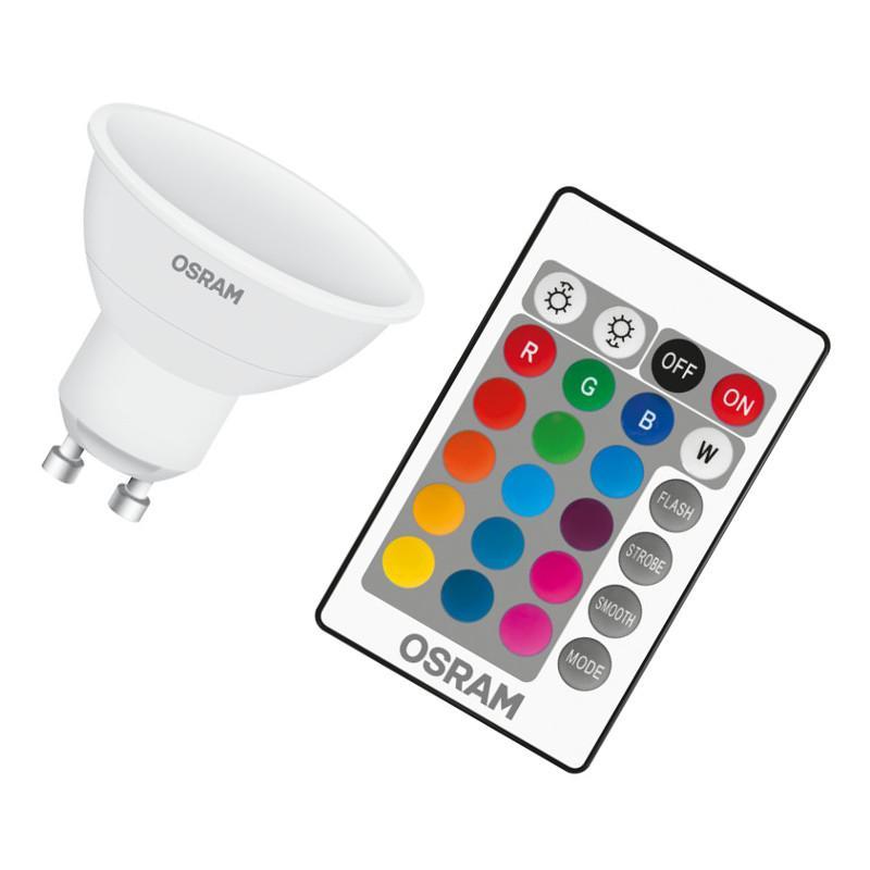 OSRAM LED STAR PAR16 25 BOX K REMOTE Warmweiß RGB SMD Matt GU10 Spot 120°