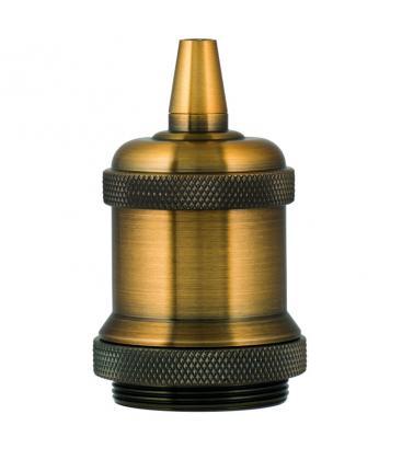 Retro Fassung Alu E27 Gold Antik 139691 8714681396919