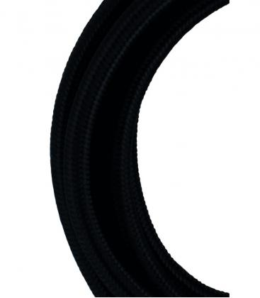 Cable Textil 2C Negro 3m 139672 8714681396728
