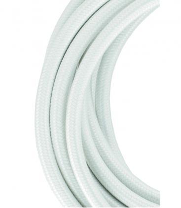 Textilkabel 2C Weiß 3m 139673 8714681396735