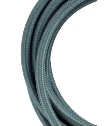 Cable Textil 2C Gris 3m 139674 8714681396742